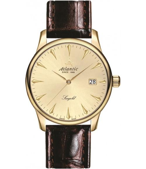 Złoty zegarek męski Atlantic Seagold 95343.65.31