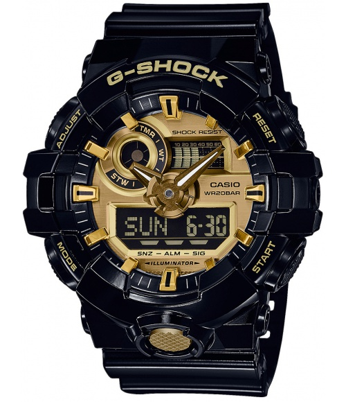 Casio G-SHOCK No Comply Black And Gold GA-710GB-1AER