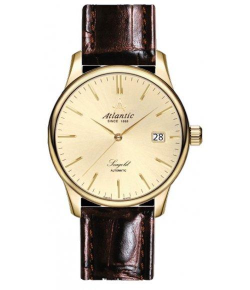 Złoty zegarek męski Atlantic Seagold Automatic 95744.65.31