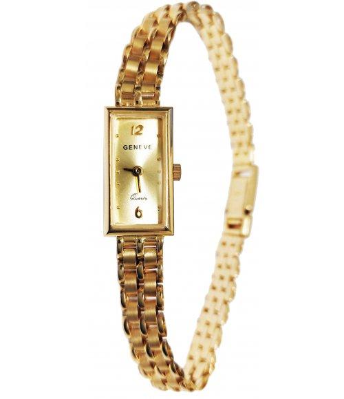 Złoty zegarek Geneve Gold Rectangle 14 585