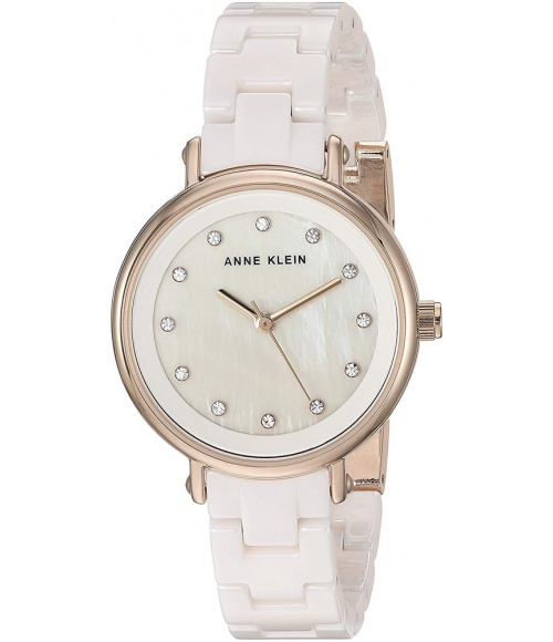 Anne Klein Crystal Accented Ceramic 3312WTRG