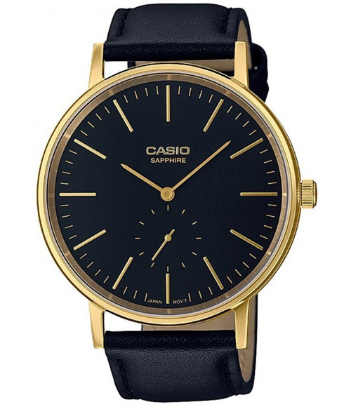 Casio  VINTAGE Instashape Black and Gold Band Sapphire LTP-E148GL-1AEF